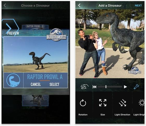 Jurassic World Mobile MovieMaker