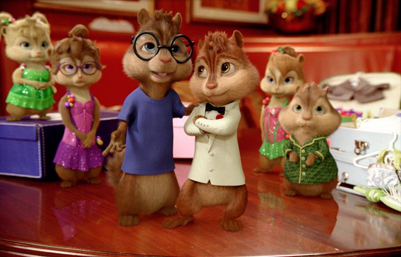 Alvins un burunduki. Aizburājuši