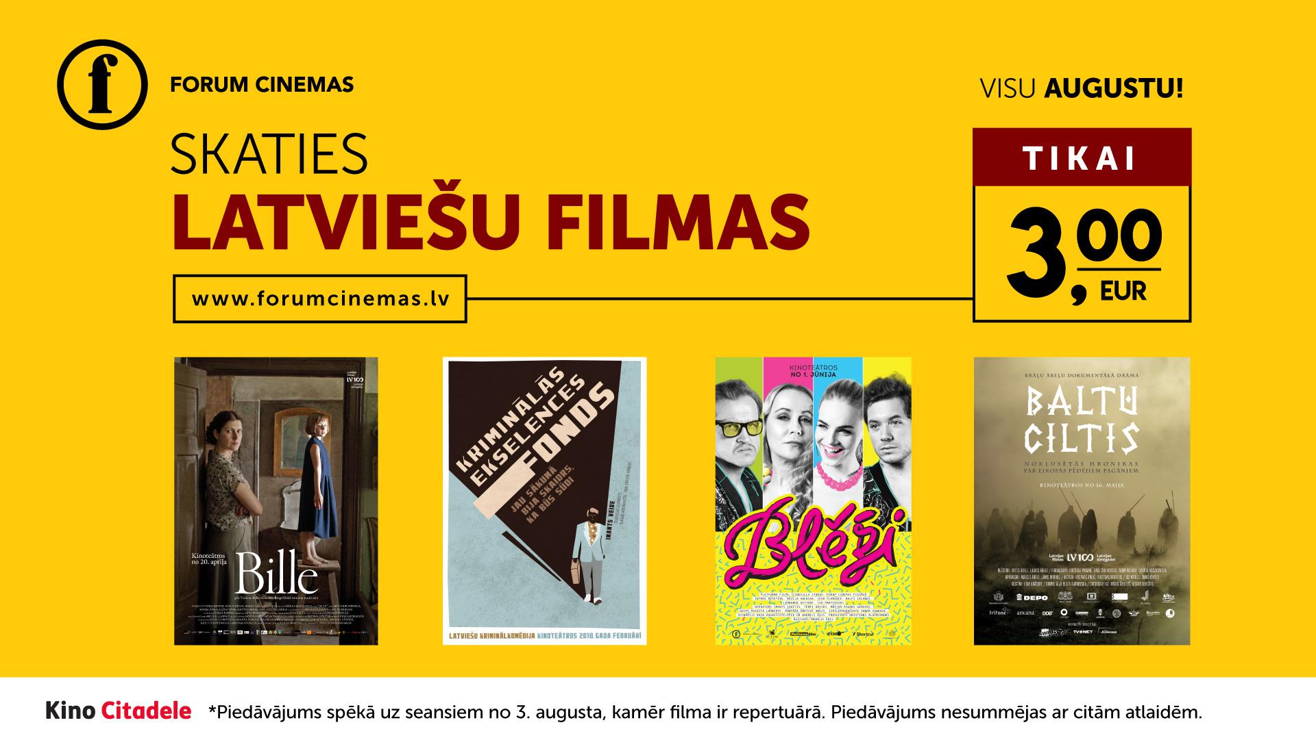 Latviešu kino augustā