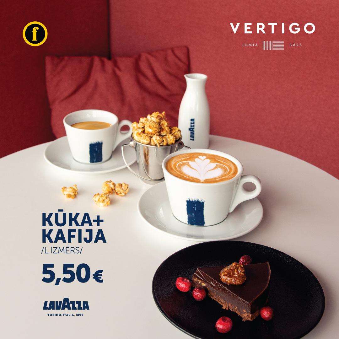 Vertigo - kafija un kūka