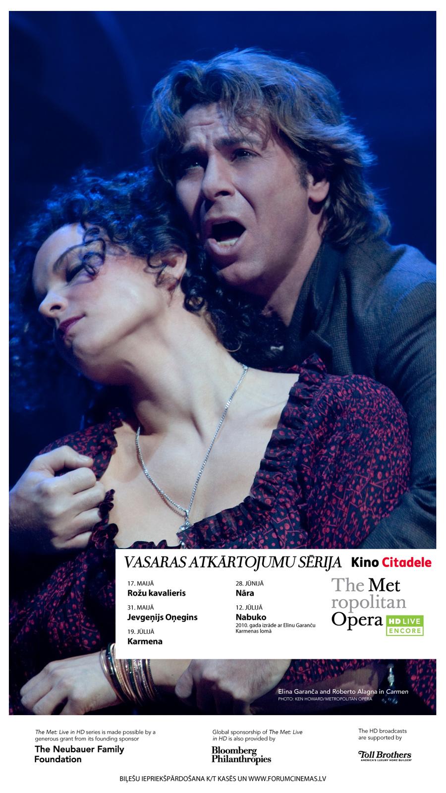 Metropolitan opera - vasaras atkārtojumu sērija